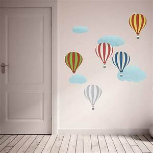 patterned hot air balloon wall stickers by spin collective With beautiful hot air balloon wall decals