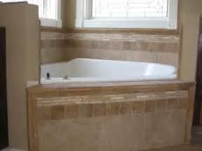 tiling a bathtub area soakertub backsplash custom tile work on a master garden