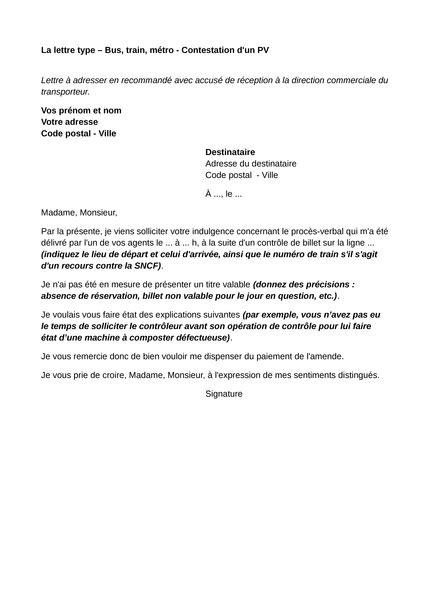 lettre type contestation amende m 233 tro contestation d un pv lettre type ufc que choisir