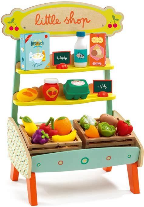 Speelgoed Djeco by Djeco Little Shop Dj06520 Wooden Toy Shop Djeco At