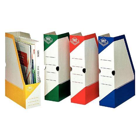boite de classement bureau boite de classement à pan coupe fast box coloris assortis