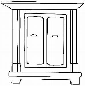 Furniture Clipart Black And White - French Bathroom Cabinets
