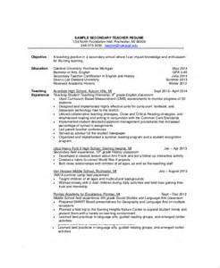 resume for experienced secondary sle resume 8 exles in pdf word