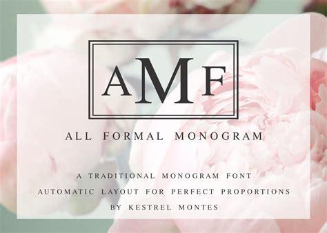 formal monogram  borders serif fonts creative market