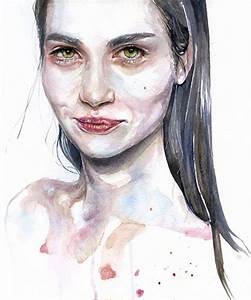Silvia Pelissero, watercolor {figurative art female head ...