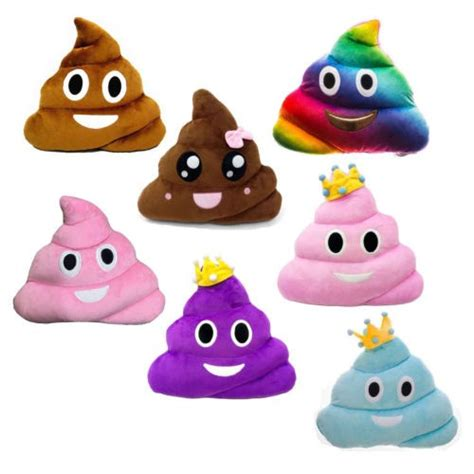 bayar  tempatbantal boneka emoticon poop poop bahan
