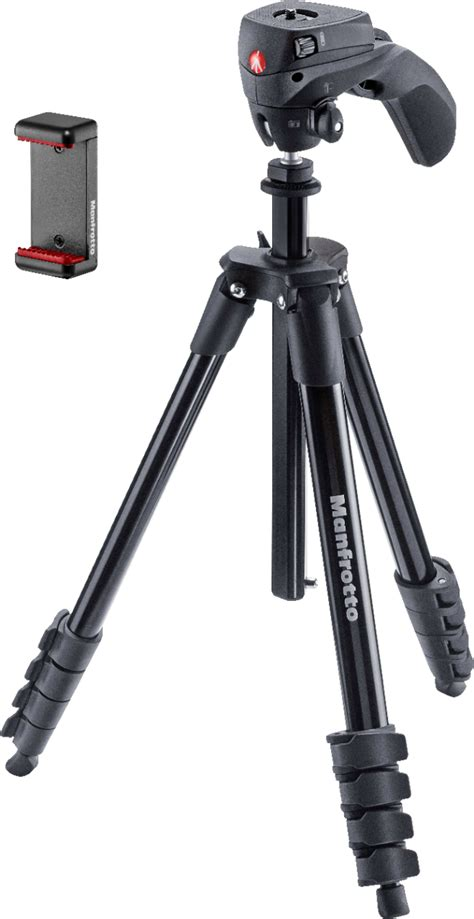 Best Buy Manfrotto Tripod Manfrotto Compact Smart 61 Quot Tripod Black
