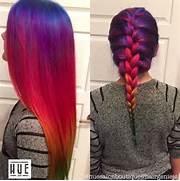 Rainbow Hair Straight ...Tumblr Hair Color Inspiration