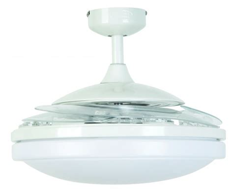 ceiling fan fanaway evo2 endure white 122 cm 48 quot with retractable blades ceiling fans for