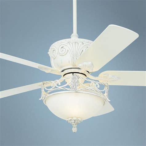 White Shabby Chic Ceiling Fan 52 Quot Casa Deville Rubbed
