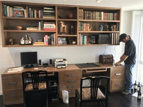 modern home office desk  bookcase mortise tenon