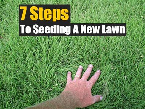 seeding a lawn 7 steps to seeding a new lawn shtf prepping central