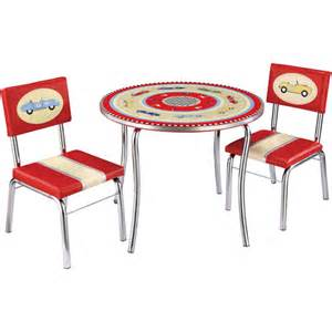 guidecraft racers table and chairs set retro racers