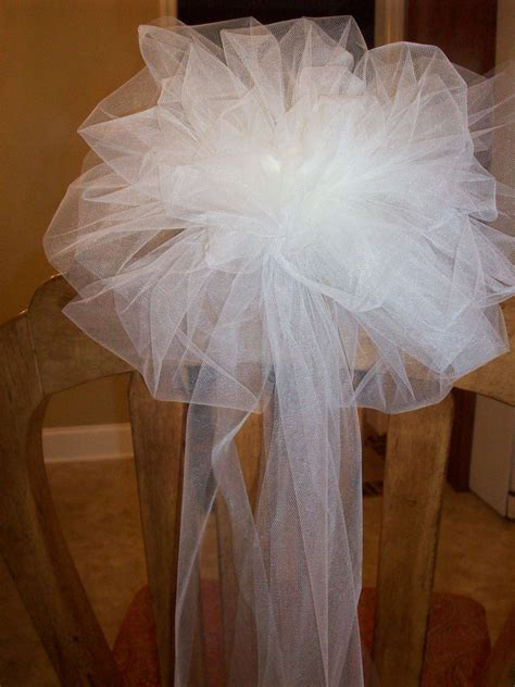 tulle bows wedding church pew decorations tulle pew