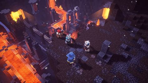 minecraft dungeons opening cinematic debuts  minecon