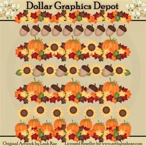 Fall Borders 1  Clip Art  $100  Dollar Graphics Depot