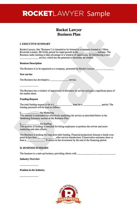 business plan template    write  business plan