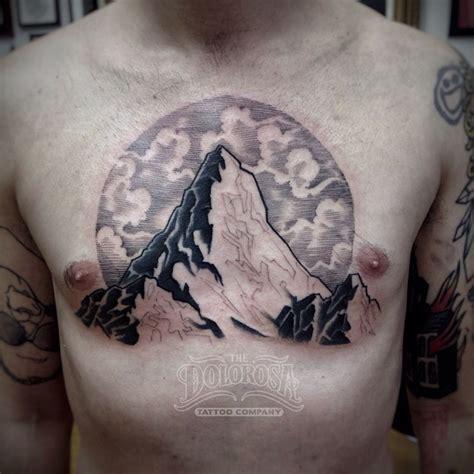 chest mountain tattoo  tattoo ideas gallery