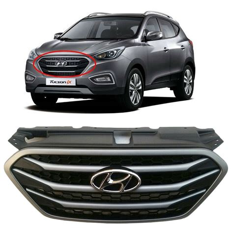 hyundai oem parts chrome front radiator grille fit
