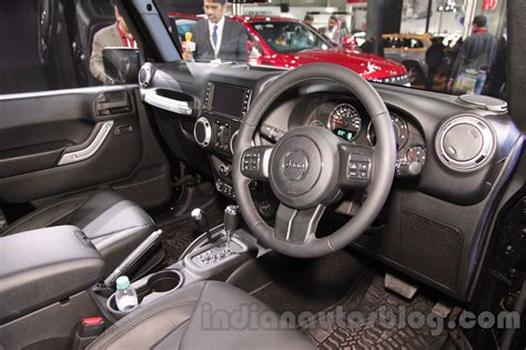 jeep cars inside jeep wrangler unlimited interior at auto expo 2016