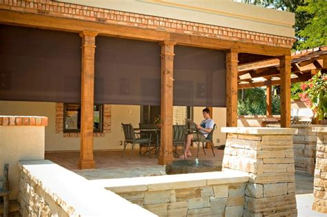 exterior patio shades outdoor shades for patios screen shades mediterranean