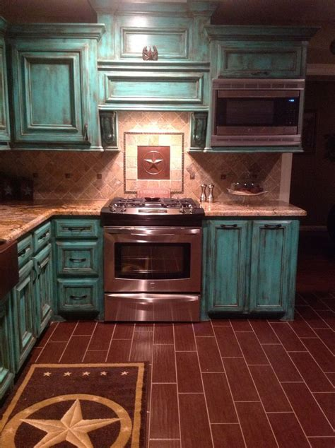 rustic teal kitchen cabinets 25 best ideas about western kitchen on
