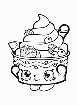 Coloring Pages Donut Shopkins Cupcake Queen Getcolorings Printable Fun Nice Colorings sketch template
