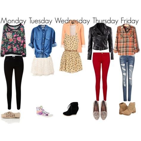 Cute Outfits for School- Weekly Planner | Weekly planner Planners and School