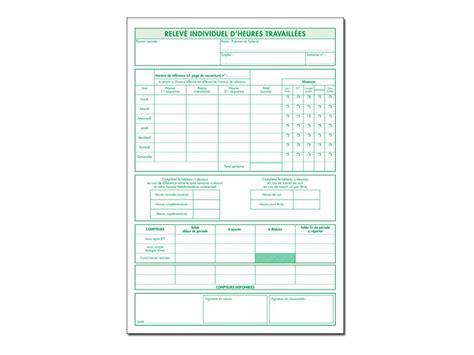 fournitures de bureau denis qu饕ec exacompta registre individuel d heures travaill 233 es