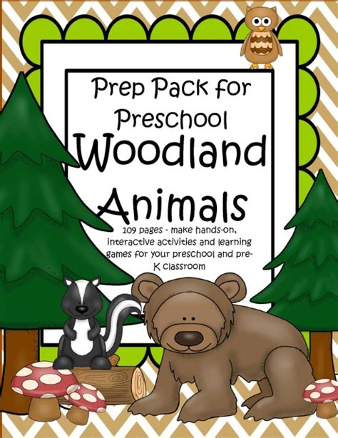 woodland forest animals prep pack for preschool 109 595 | s502260936815463319 p128 i2 w640