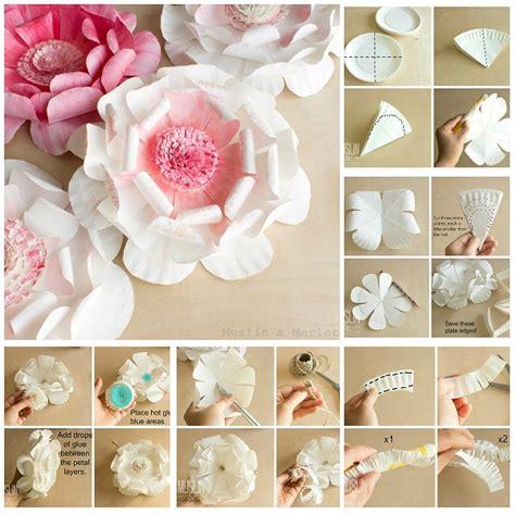 fare fiori con la carta come fare fiori con piattini di carta tutorial
