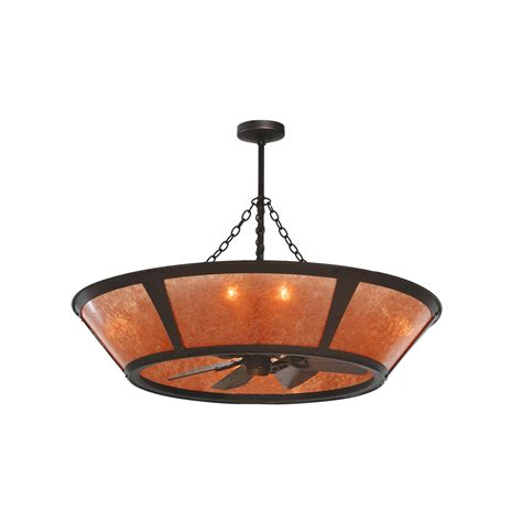 Meyda Tiffany Custom 110072 8 Light 49 In Erp Amber Mica