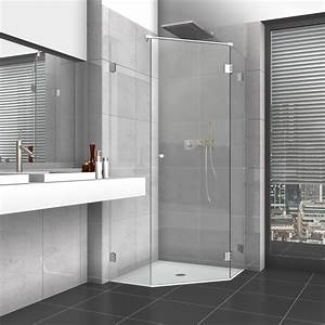 Mover Komplett Mit Einbau : 5 eck dusche mit glast r und zwei seitenteilen ~ Kayakingforconservation.com Haus und Dekorationen