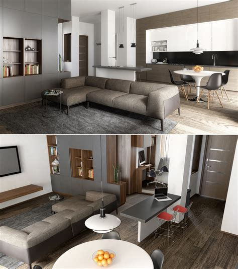 23 Open Concept Apartment Interiors For Inspiration. White Kitchen Appliances Coming Back. Appliance Garages Kitchen Cabinets. Brick Kitchen Floor Tile. Kitchen Mood Lighting. Tiled Kitchen Tables. Small U Shaped Kitchen With Island. Fluorescent Ceiling Lights For Kitchens. Bar Stools Kitchen Island