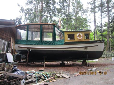 Wooden Boat Victoria by Woody 28 Foot Martin North Double Ender Wooden Boat