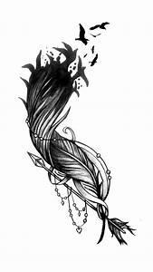 Tatto Ideas 2017 Feather Flock Arrow Tattoo Design ...