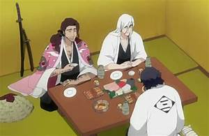 Image - Ukitake, Kyoraku, and Amagai drinking.png | Bleach ...