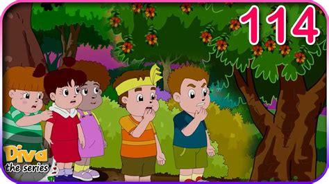 gambar pohon rambutan kartun