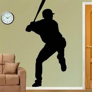 Baseball Player Silhouette Wall Decal