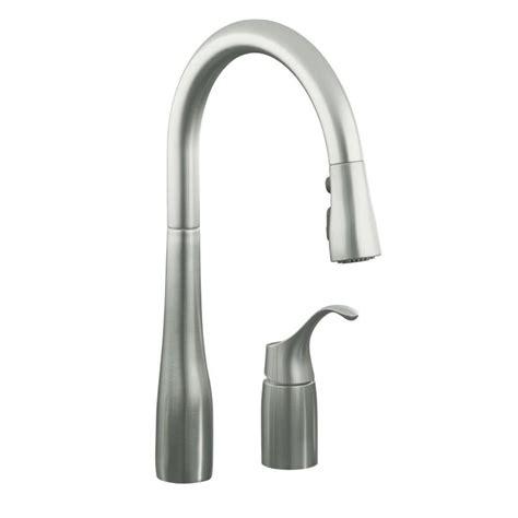 kohler kitchen faucets shop kohler simplice vibrant stainless 1 handle pull