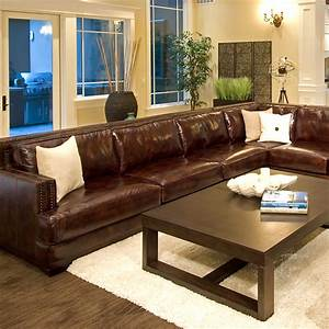 Easton leather sectional and chair set left arm sofa for Easton leather sectional sofa