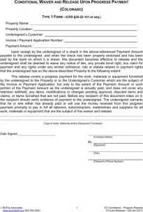 Partial Lien Waiver Release Form