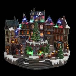 12 5 in animated holiday downtown village house musical christmas decor diplay ebay