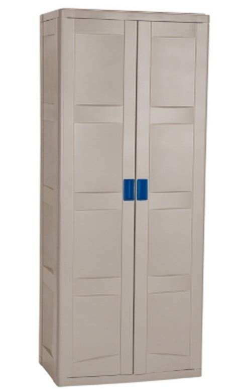 Suncast Storage Cabinets With Doors by New Suncast 2 Door Gray Locking Utility Storage