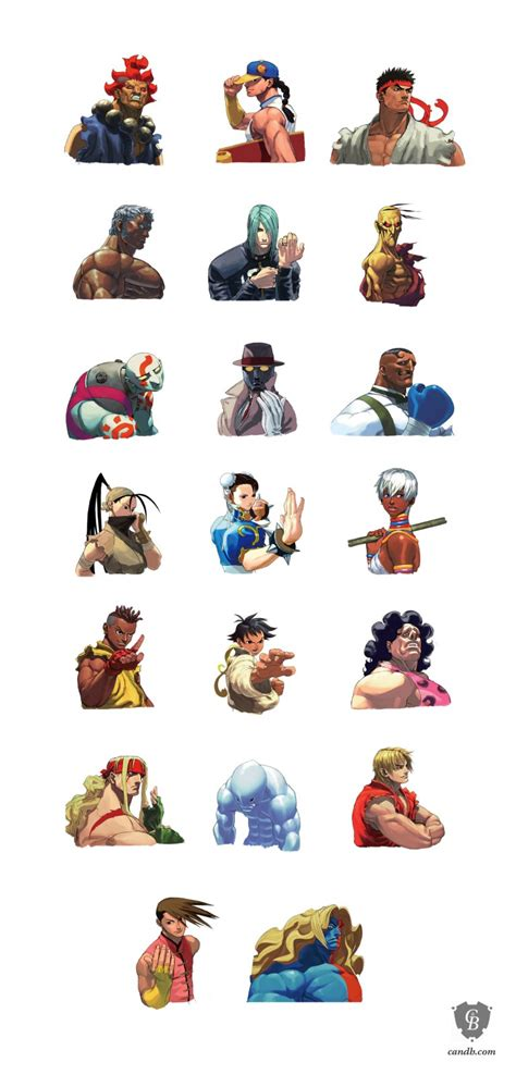 Artwork Street Fighter Iii3rd Strike Portraits Capcom