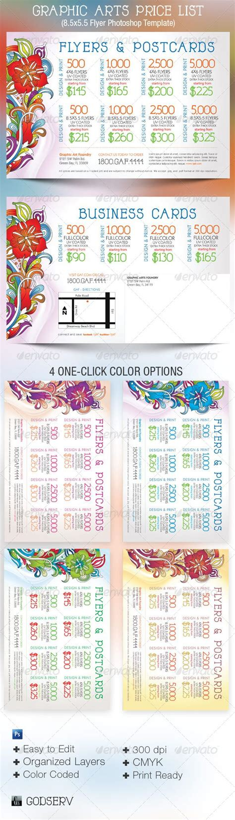 postcard template graphicriver graphic arts price flyer and postcard template the