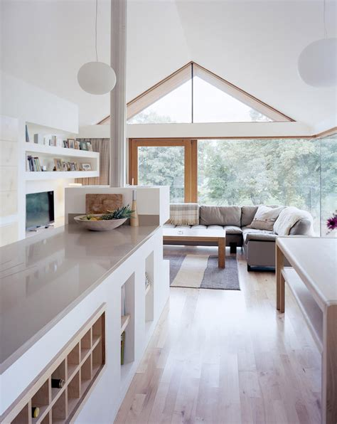 small home interior design inside of small house built around existing barn