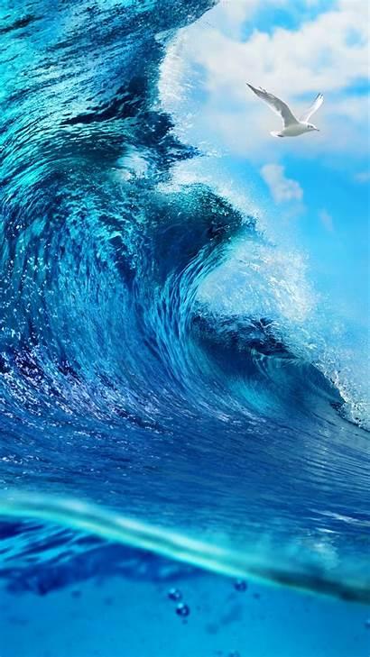 Ocean Waves Sea Wave Wallpapers Iphone Wallpaperboat
