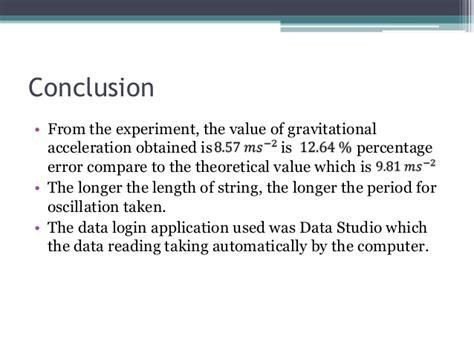 Pendulum Lab Report by Physics Pendulum Lab Report