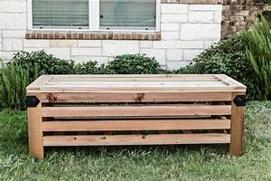 Diy outdoor storage ottoman for How to build an ottoman with storage